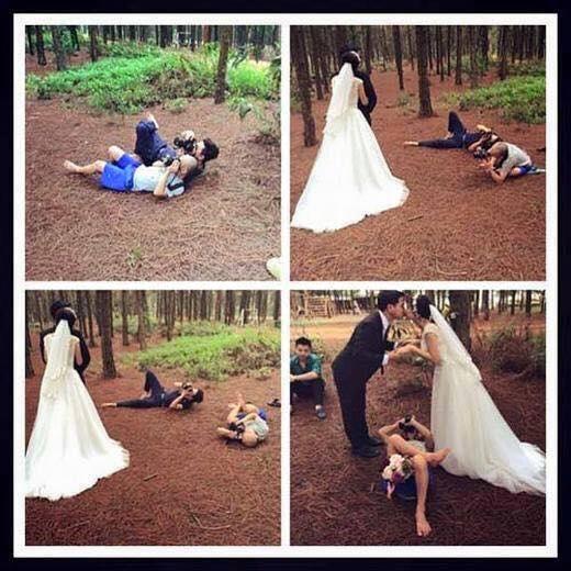 Sặc nước với tướng tá chụp hình cưới bá đạo của photographer