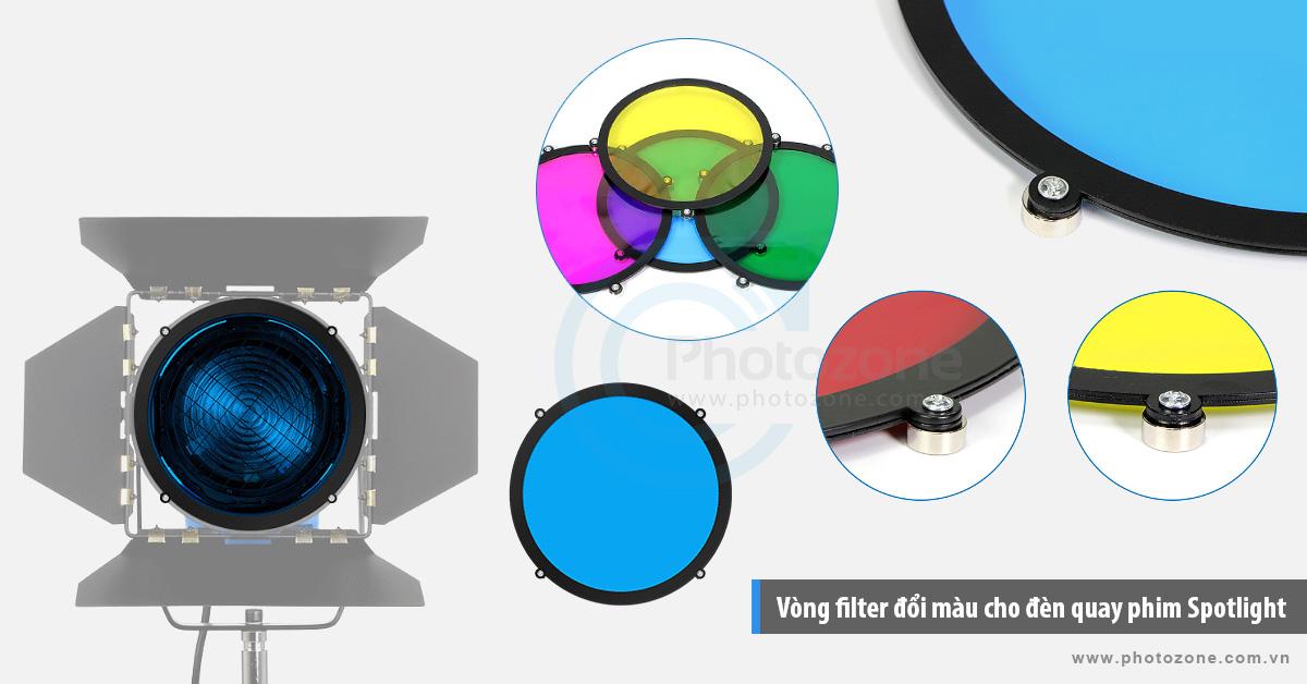 Vòng filter đổi màu cho đèn quay phim Spotlight